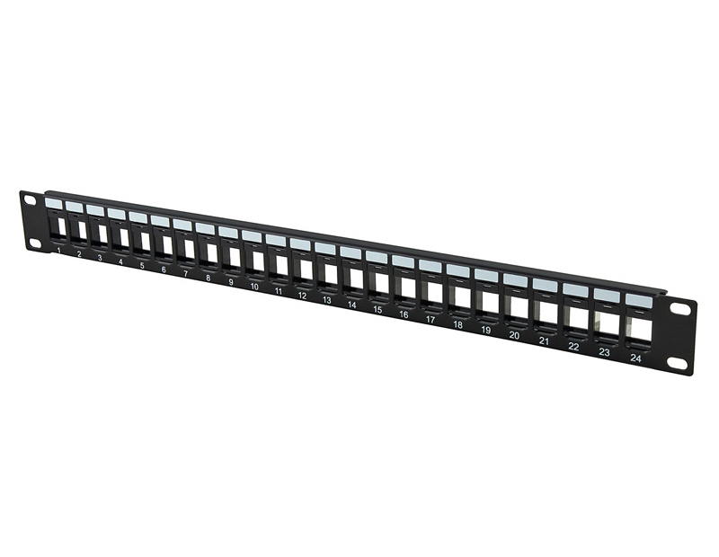 UTP Crossed Blank Patch Panel 24Port with back bar Copper System Wall Outlet