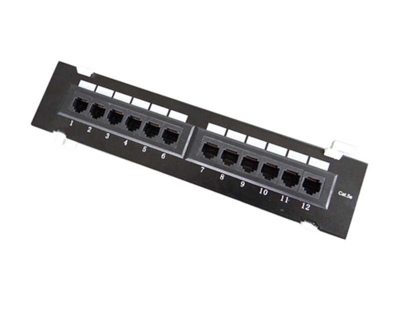 UTP Cat.5e Patch Panel 12Port Wall mounted
