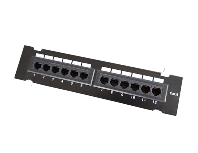 UTP Cat.6 Patch Panel 12Port Rack mounted type